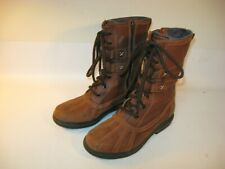 CLARKS Artisan Boots Women's Brown Leather Insulated Side Zip - US 6 (EU 36)