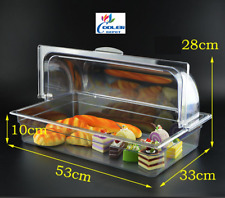 Dry Bakery Showcase Donuts Bagels Pastry Display Case Curved Glass Counter Top
