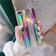 iPhone 7 8 Plus X 6 6s Plus Case Rainbow Laser Holo Chrome Holographic Shining