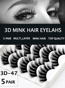 5 Pair MULTI-LAYER Eyelashes Long Thick Mixed Fake Eye Lashes Makeup Mink 3D47
