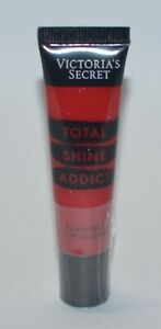 1 VICTORIA'S SECRET JUICY RUBY RED TOTAL SHINE ADDICT FLAVORED LIP GLOSS SHIMMER