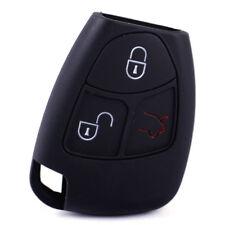 Schwarz Schlüssel Hülle Silikon Case Etui für Mercedes-Benz W203 W211 W209 W221