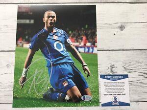 Ashley Cole Signed Autographed Chelsea FC 8x10 Photo Beckett BAS COA b