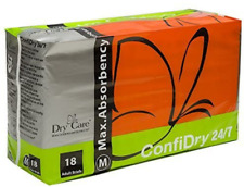 ConfiDry 24/7 Dry Care Max Absorbency Adult Brief Diapers 18 Count