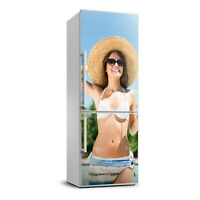 Magnet Sticker Refrigerator removable Peel & Stick People Woman by the pool