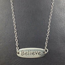Believe Quotes Necklace,Silver handmade necklace,Fashion charm jewelry pendant