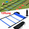 Speed Agility Train Kit 19Ft Flat Ladder+10pcs Disc Cones for Athletic Training