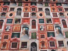 FINESTRA PERSIANE BALCONI STAMPA DIGITALE COTONE Tessuto per Tende Tappezzeria Crafts