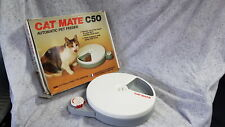 Cat Mate C50 Boxed Automatic 5 Meal Pet Feeder & Timer for Cats & Small Dogs Gra