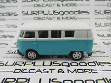 Welly 1/60 Scale LOOSE Blue & White 1960's VOLKSWAGEN VW SAMBA MICROBUS #8166D