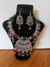 Parure, Collier Tribal et Boucles d'oreille ,  Artisanat Inde,  Kutch Gujarat 17