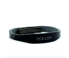 Authentic Pür life Negative Ion Bracelet EXCEL Sport Black & Gray Black PURLIFE