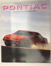1991 Pontiac Prestige Brochure Firebird Trans Am Grand mw1514-SPH4GB