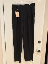 NWT Tommy Bahama Double Keel Pleated Pants Tencel Black Mens Size 35x34