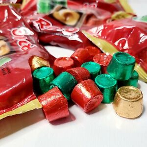 6.35 Pound Case Rolo Chewy Caramel Milk Chocolate Candy Red, Green & Gold Foil