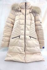 1 Madison Women's Luxe Down/ Puffer Long Maxi Coat Faux Fur Large L T12775