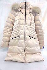 1 Madison Women's Luxe Down/ Puffer Long Maxi Coat Faux Fur Large L T12775
