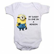 My Daddy Es One In A Minion Divertidos Para Bebé Mono Camiseta Body Regalo