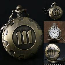 Vintage pendentif Vault 111 bronze men's quartz chaîne de montre montres de poche d'or