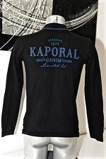 carino polo nero a maniche lunghe KAPORAL bonhor taglia 16 anni S