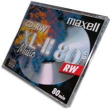 10-Pak MAXELL XL-II =DIGITAL-AUDIO= 80-Min MUSIC CD-RW in Jewel Cases!
