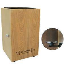 More details for world rhythm natural cajon box drum with adjustable snare