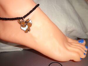 Eevee enamel charm ankle bracelet beads anklet stretchy beach pokemon