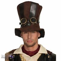 Adults Steampunk Stare Punk Tall Top Hat Victorian Fancy Dress Costume Accessory
