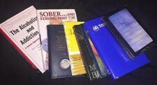 8 Bk Lot~Alcoholics Anonymous Lot (books, Bible, Video)