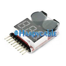 New 2in1 Li-ion Lipo Battery Low Voltage Alarm 1S-8S Buzzer Checker Meter Tester