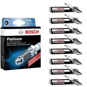 8 Bosch Platinum Spark Plugs For 1995-1996 AM GENERAL HUMMER V8-5.7L