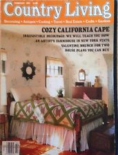 COUNTRY LIVING MAGAZINE~VINTAGE~FEB 1993~COZY CALIFORNIA CAPE~