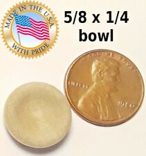 5pcs 5/8 x 1/4 unfinished raw miniature dollhouse / craft bowl