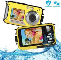 Waterproof Camera FHD 1080P Underwater Camera 24MP Waterproof Digital Camera 16X