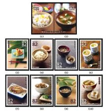 C2242 Japanese Stamp 2015 and Food Culture Episode 1 used