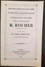DISCUSSION DU PROJET DE LOI SUR L ARMEE la durée de service par M. ROUHER (1867)