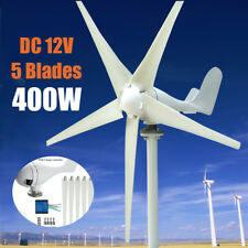 400W 5 Blade Wind Turbine Generator DC 12V With Waterproof Charge Controller US