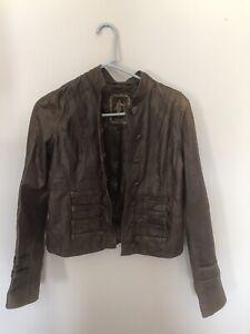 Quality My Tribe Leather Jacket Womens Medium