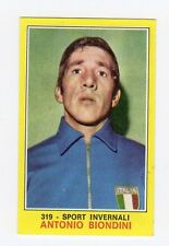figurina PANINI CAMPIONI DELLO SPORT 1970-71 Numero 319 SPORT INVERNALI BIONDINI