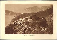 06 EZE ET LA COTE D' AZUR VUE AERIENNE IMAGE 1934