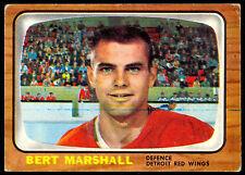 1966 67 TOPPS HOCKEY 51 BERT MARSHALL VG-EX DETROIT RED WINGS CARD