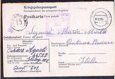 1943 Germany Stalag 3 C Italian Prisoner of War POW PostcardCover to Italy