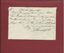 Manoscritto Ricevuta per Acquisto di Farina di Lino in Pistoia 1865