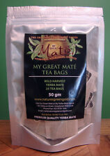 My Great  Yerba Mate Tea Bags WILD HARVEST!