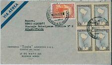 ARGENTINA-STORIA POSTALE: Airmail Coperchio per l'Italia - Antartico - 1955