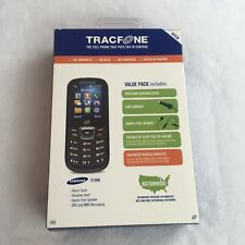 Samsung S150G Tracfone Cellular Phone Value Pack New SEALED Black