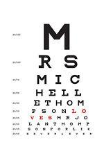 Large Framed Print - Eye Chart (Picture Poster Art Optician Glasses Sunglasses)