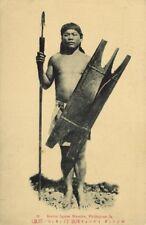 philippines, LUZON, Native Bontoc Igorot Warrior, Spear Shield (1910s) Postcard