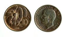 pcc1566_4) Vittorio Emanuele III  (1901-1943) 10 Cent Ape 1921