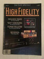 VINTAGE HIGH FIDELITY 1986 MAGAZINE                                          E22